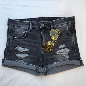 Pants - Vintage Black High Waisted Shorts